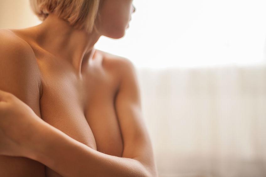 Asymmetrische brust op